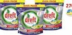 Dreft Platinum - All in one Lemon - 3 x 90 (270) Stuks - Vaatwastabletten - voordeelverpakking