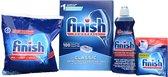 Finish starter pack voor de vaatwasser - Vaatwaszout + Glansspoelmiddel + vaatwasmiddel + machinereiniger in een doos
