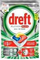 Dreft Platinum Plus All in one | Citroen | 43 Vaatwastabletten