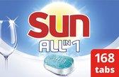 Sun All-in-1 Normaal Vaatwastabletten - 7 x 24 stuks - Voordeelverpakking