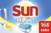 Sun All-In-1 Citroen Vaatwastabletten - 7 x 24 tabletten - Voordeelverpakking