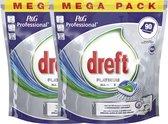 Dreft - Tabs - Platinum Regular - 2 x 90 stuks - voordeelverpakking - Vaatwastabletten