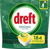 Dreft Original All In One Lemon - Voordeelverpakking 4x46 stuks - Vaatwastabletten