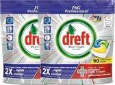 Dreft - Tabs - Platinum Lemon - 2 x 90 stuks - voordeelverpakking